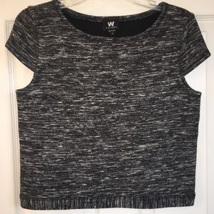 W by Worth short sleeve sweater crop top